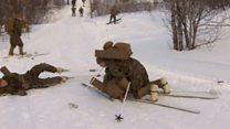 Норвегия: военные США учатся ездить на лыжах в Заполярье