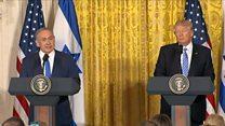 ترامب: سأعمل على التوصل إلى اتفاق سلام بين الفلسطينيين وإسرائيل
