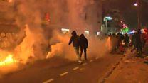 Беспорядки в Париже: полиция применила слезоточивый газ