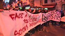 ပဲရစ်မြို့မှာ လူထောင်နဲ့ချီ ဆန္ဒပြ