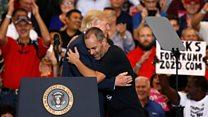 """Трамп: """"Я только боюсь, как бы он меня не поцеловал!"""""""