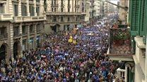 مظاهرة حاشدة في أسبانيا تطالب الحكومة باستقبال مزيد من المهاجرين