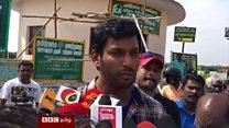 தென்னிந்திய நடிகை மீது பாலியல் தாக்குதல்: விஷால் கண்டனம்