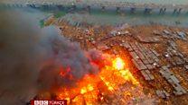 Lagos'ta yangın