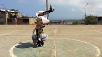 The acrobatic scissor dancers of Peru