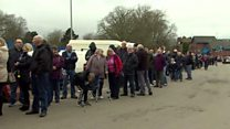 Hundreds queue for cup final tickets
