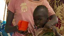တောင်ဆူဒန်မှာ ကလေးသူငယ် ၁ သန်းခွဲ နီးပါးလောက်ဟာ အ စာရေစာ ငတ်