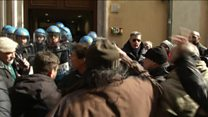 Uber threat drives noisy Italy protests
