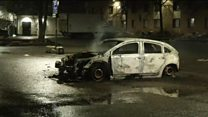 Aftermath of Rinkeby riots in Sweden