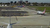 Las imágenes que muestran como Harrison Ford casi choca su avioneta contra un avión de pasajeros