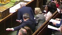 Labour deputy leader 'dabs' during PMQs