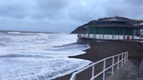 Storm Doris whips in at Aberystwyth
