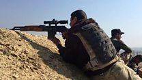 Iraqi forces at airport perimeter