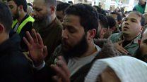 تشييع الزعيم الإسلامي عمر عبد الرحمن في  مصر