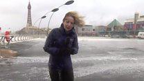 Storm Doris batters BBC reporter