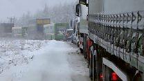 Motorists' despair as Storm Doris affects M80