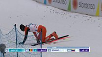 Tricky start for 'world's worst skier'