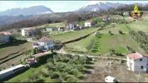 O vilarejo italiano que está se abrindo ao meio com fenda que cresce 1 metro ao dia