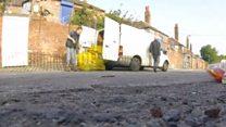 Fly-tippers dumped asbestos near school