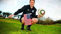Scots footgolfer takes on America
