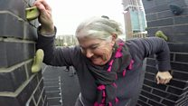 Pensioner parkour: 'I feel perky'