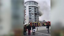 Portsmouth high-rise blaze under control