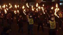 Candlelight rally over South Korea president