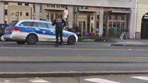 Moment police shoot Heidelberg attacker