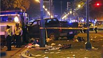 Pick-up truck hits crowd in New Orleans