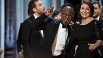Jenkins reacts to Oscar win