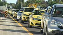 Melbourne taxi protest snarls traffic
