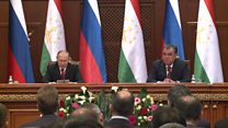 پوتین: در صورت ضرورت، از پایگاه نظامی روسیه در تاجیکستان استفاده خواهد کرد