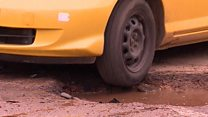 Zimbabwe's potholed roads