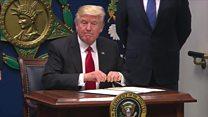 ТВ-новости: первое послание Трампа к народу