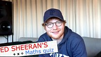 Ed Sheeran takes a maths test