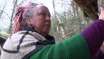 Devon mud-hut woman 'allergic to modern life'