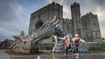 Dragons turn up to celebrate St David's Day