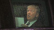 Trump filmed 'rehearsing' speech in car