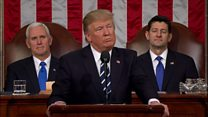 سخنرانی رئیس جمهوری جدید آمریکا در کنگره