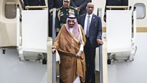 Limos and lifts on Saudi king's travel list