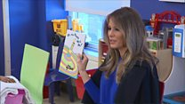 Melania reads Dr Seuss to sick children