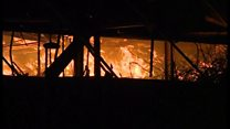 Fire tackled at recycling plant