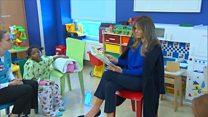 Melania Trump reads Dr Seuss to sick children