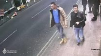 Footage released of men wanted over rape