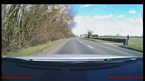 Dash cam captures moments before crash