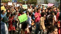 دہلی میں طلبہ کا احتجاج