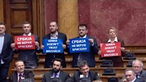 EU's Mogherini heckled by Serbia MPs