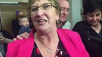 Dolores Kelly celebrates winning seat
