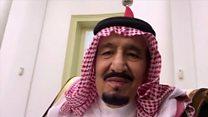 الملك سلمان مع الرئيس الإندونيسي في فيديو سيلفي