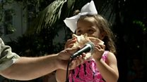 Top tooting in the conch shell contest